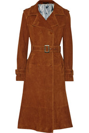 22 suede trench coat