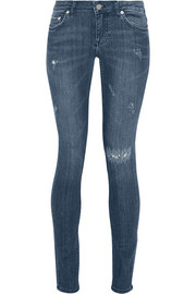 26 distressed low-rise skinny jeans