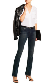 16 mid-rise straight-leg jeans