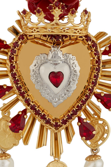 Dolce Amp Gabbana Sacro Cuore Gold And Silver Plated