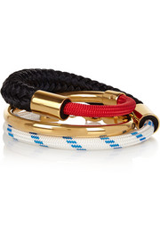 Marni Gold-plated and rope wrap bracelet