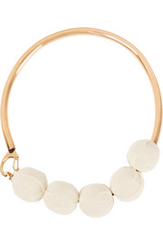 Marni Gold-tone wood choker