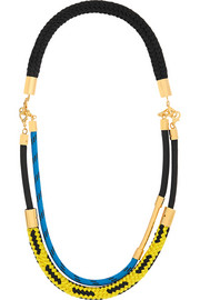 Marni Gold-plated rope necklace