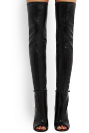 Narlia thigh boots in black leather