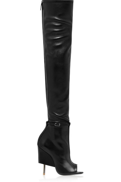 GIVENCHY 115Mm Narlia Stretch Nappa Leather Boots, Black at NET-A-PORTER