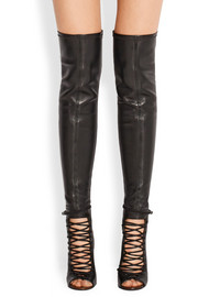 Nunka thigh boots in black leather