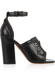 Nekka sandals in elaphe and leather