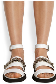 Givenchy Natalia chain-trimmed sandals in white leather