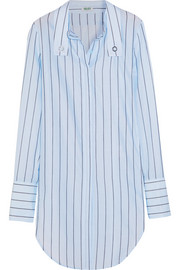 KENZO Striped cotton-poplin shirt