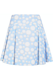 Printed crepe mini skirt