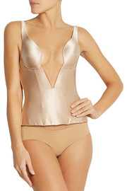 Grace stretch-silk satin corset