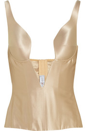 Ender Legard Corsetry Grace stretch-silk satin corset