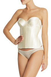 Ava stretch-silk satin corset