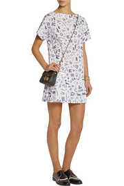 Maison Kitsuné Map printed cotton mini dress