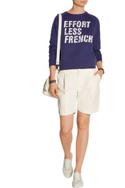Effortless French printed cotton-terry sweatshirt