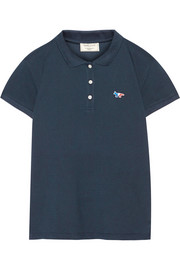 Cotton-piqué polo shirt