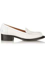 Acne Studios Croc-effect leather loafers