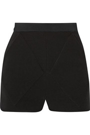 High-rise crepe shorts
