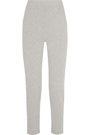 Knitted jersey tapered pants