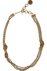 Lanvin Gold-plated necklace