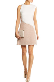 3.1 Phillip Lim Matelassé cotton and suede dress
