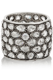 Fred Leighton Collection platinum and diamond eternity ring
