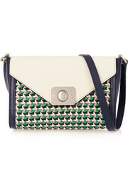 Delphie Duo small woven-paneled leather shoulder bag