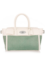 Bayswater Buckle woven leather tote
