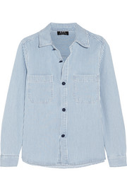 Nancy striped denim shirt