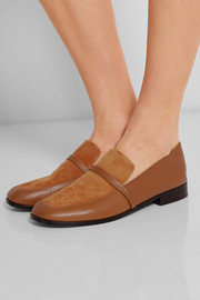 Melanie leather and suede loafers