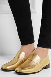 Melanie metallic leather loafers