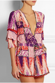 Matthew Williamson Escape printed silk playsuit