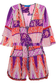 Escape printed silk playsuit