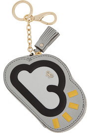 Anya Hindmarch Cloud textured-leather keychain