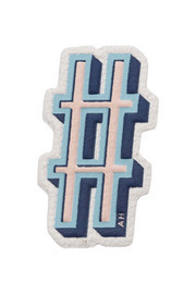 Hash Tag textured-leather adhesive sticker
