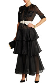 Alessandra Rich Tiered silk-organza gown