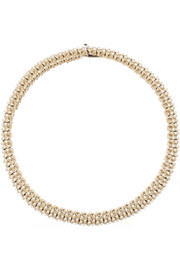 Necklace in gold-tone and faux pearl