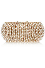 Bracelet in gold-tone and faux pearl