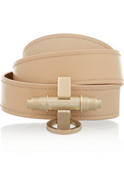 Obsedia bracelet in beige matte and patent-leather