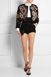 Embellished jacquard jacket