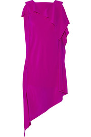 Barrow asymmetric silk crepe de chine dress