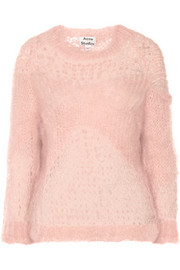 Moxa open-knit mohair-blend sweater