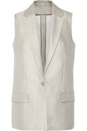 Roana cotton and silk-blend vest