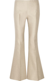 Mello cotton and silk-blend flared pants