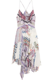 Etro Layered printed silk dress