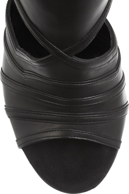Balmain Kali cutout leather sandals