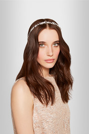 Amelia rhodium-plated Swarovski crystal headband