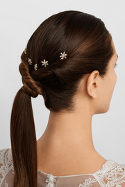 Astor Swarovski crystal-embellished hair slides