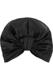 Silk-satin turban
