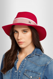 Henrietta grosgrain-trimmed rabbit-felt hat